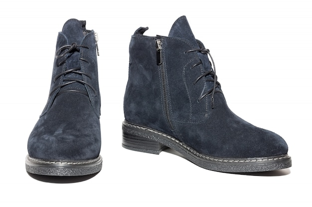 Female winter suede shoes