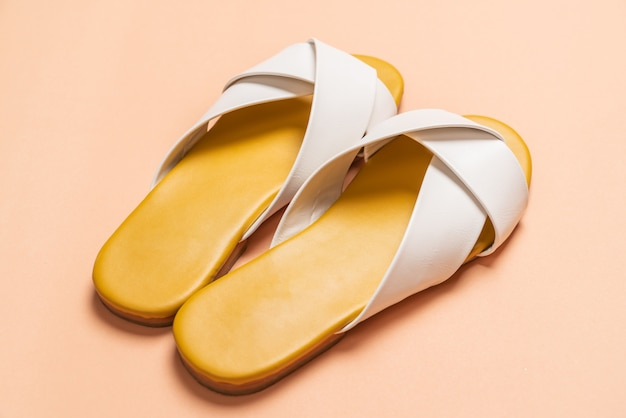 Female and woman leather sandals