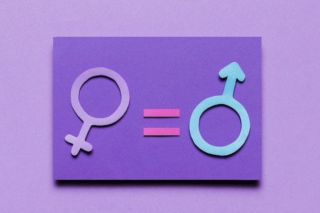 Feminine and masculine gender signs equal power