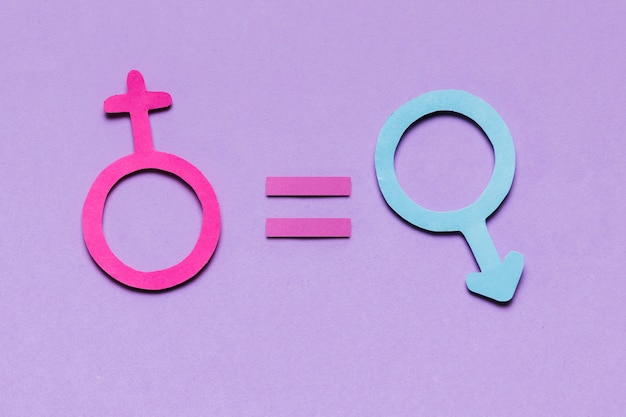 Feminine and masculine gender signs equal responsibility