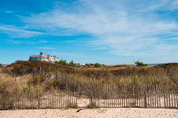 Fencing along the beach in the hamptons