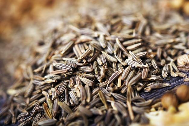 Fennel seeds closeup