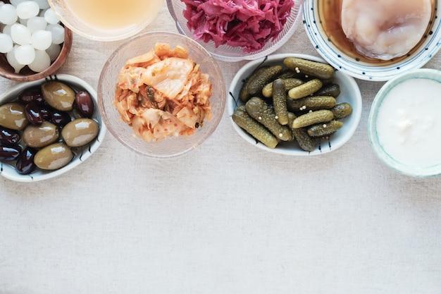 Fermented probiotic foods for gut health