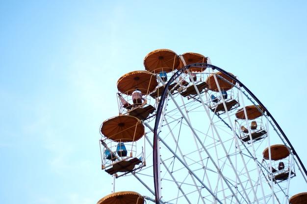 Ferris wheel in the evening