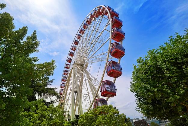 Ferris wheel in geneva geneve of switzerland
