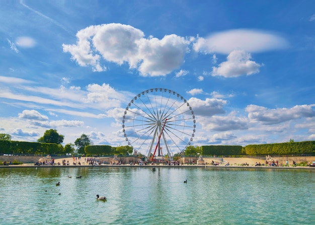 Ferris wheel on the place de la concorde in paris