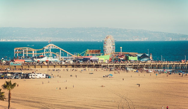 Ferris wheel on santa monica pier in california