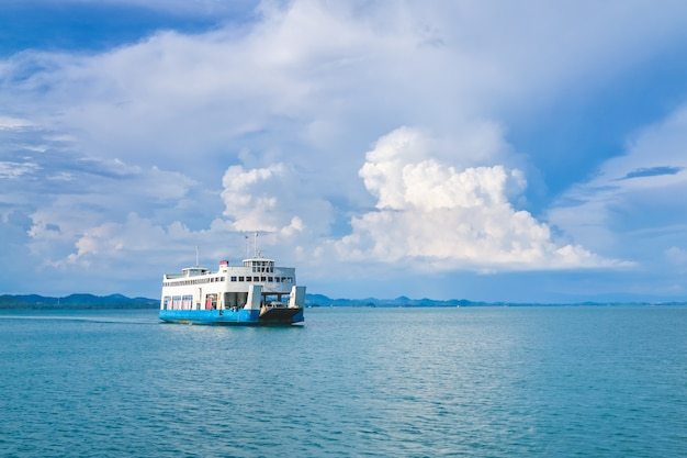 Ferry boat to koh chang island in trat