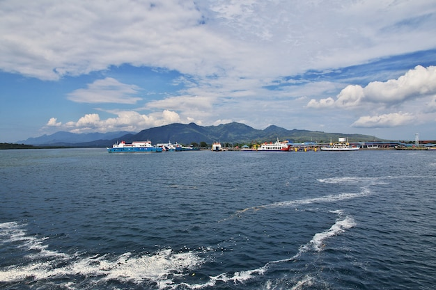 Ferry from java to bali island
