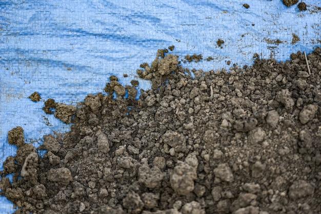 Fertile loam soil suitable for planting soil background for gardening concept