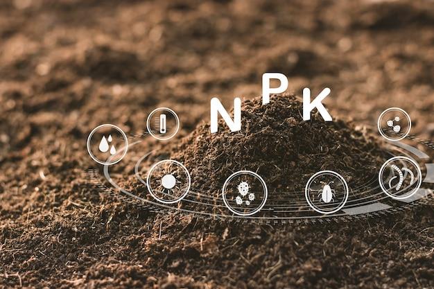 Fertile loam soil suitable for planting