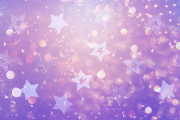 Festive abstract background with blue stars.