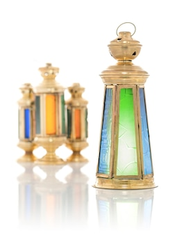 Festive antique ramadan lanterns