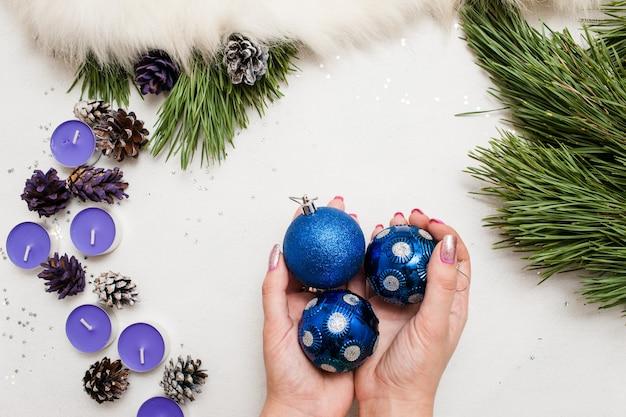 Праздничный фон рождественского украшения.