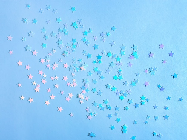 Праздничный синий фон со звездами