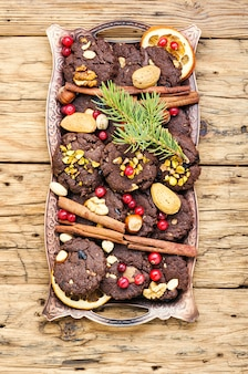 Festive chocolate cookie