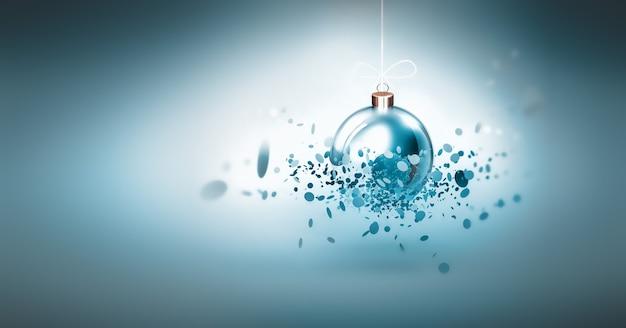 Праздничный новогодний фон со светящимся шаром