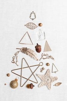 흰색 바탕에 축제 크리스마스 장식품