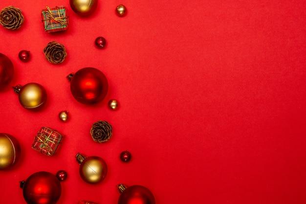 크리스마스와 새해 휴가 시즌을위한 축제 구성.