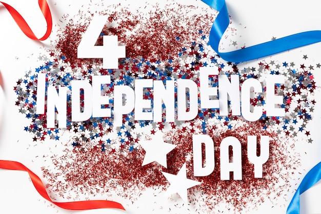 7月4日の要素のお祝いの構成