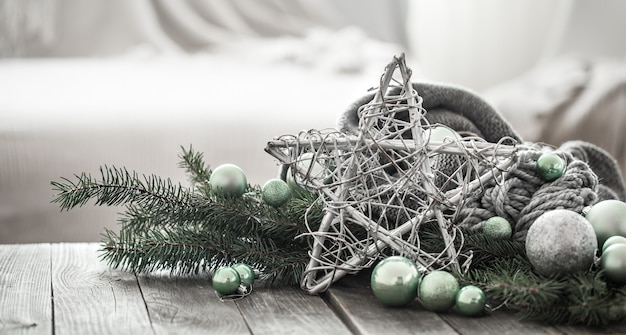 Festive composition with christmas decoration