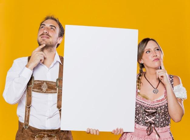 Праздничная пара с макетным мышлением