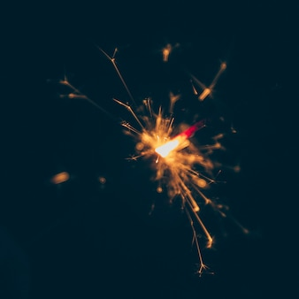 Festive firework on dark background