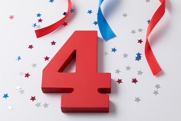お祝いの独立記念日の構成