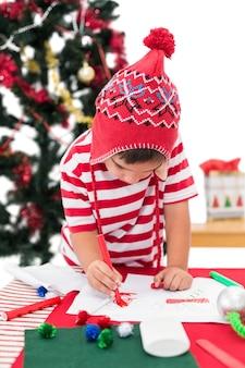 Праздничный рисунок мальчика