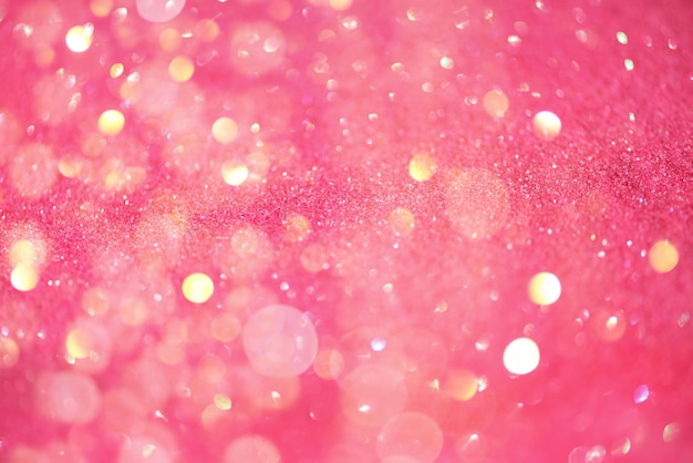 Festive pink background with copy space.
