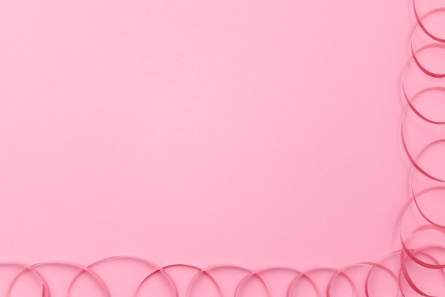 Festive ribbon  on pink background