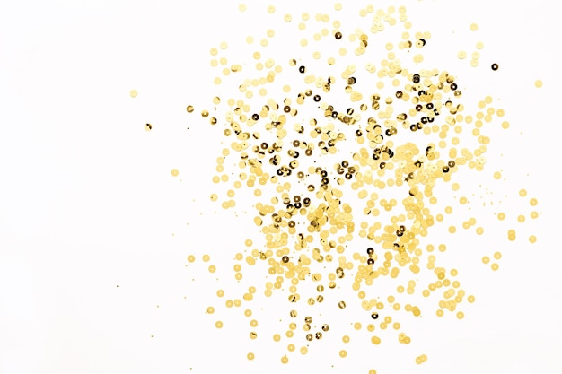 Festive shining background with gold sparkles. holiday concept, copy space.