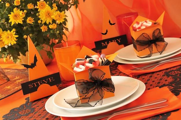 ハロウィンギフト風のお祝いテーブルデザイン