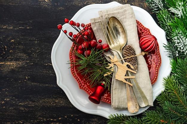 Сервировка праздничного стола на рождество