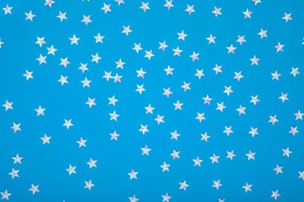 축제 유행 어두운 파란색 배경 은색 금속 별