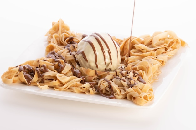 Феттучини креп шоколад еда