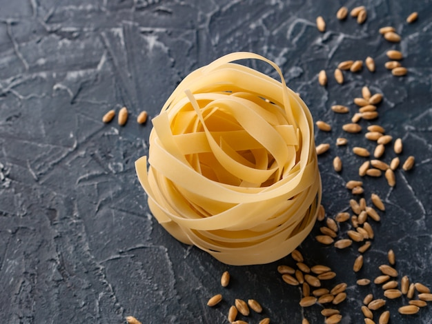 Fettuccine from durum wheat and wheat grain