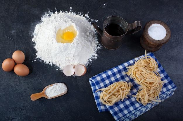Fettuccine, italian pasta