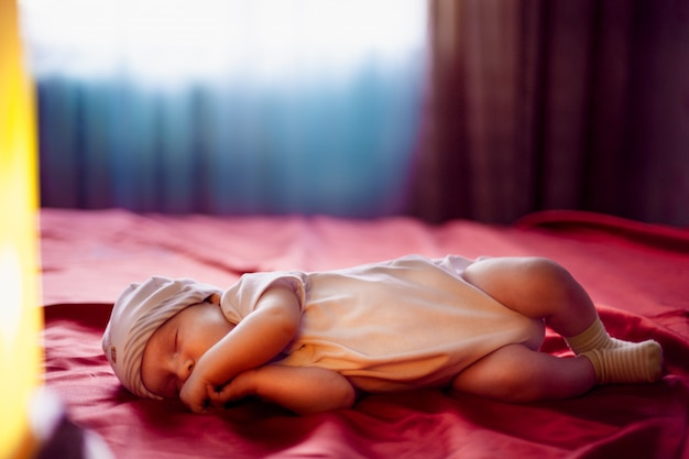 Fev months old lovely baby portrait