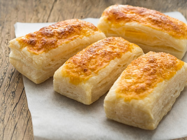 Few fresh rolls with a delicious crust of puff pastry,