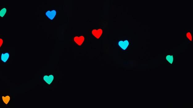 Few heart-shaped lights