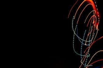 Few trails of neon lights
