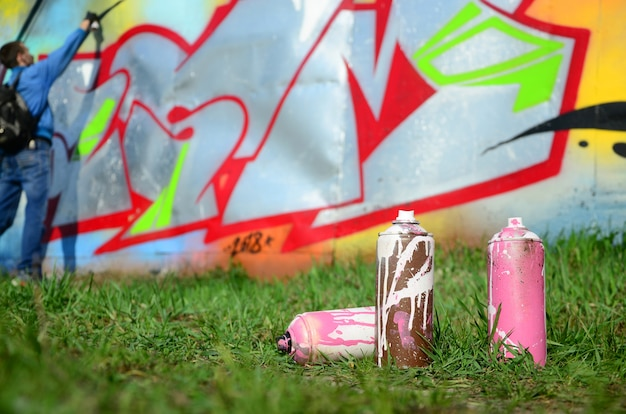 A few used paint cans