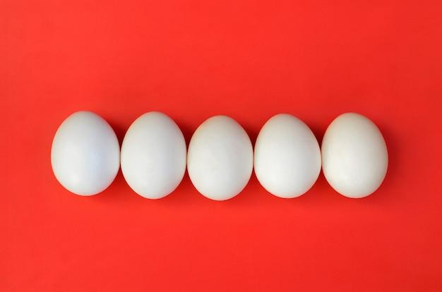A few white eggs