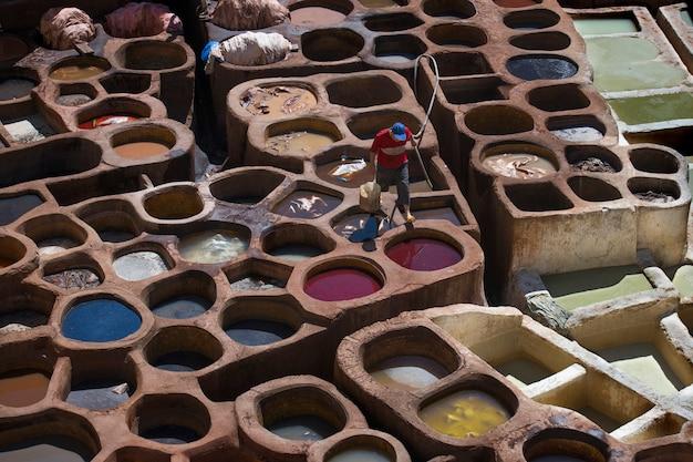 モロッコのフェズレザータナリー