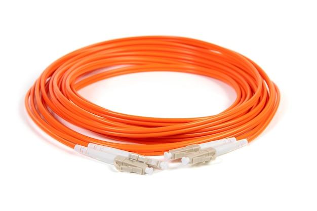 Sc 커넥터가 있는 광섬유 케이블 프리미엄 사진