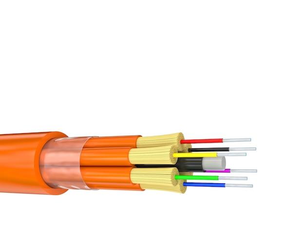 Fiber optics on white