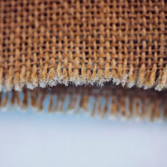 Fibers of burlap material