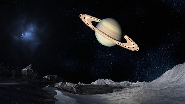 Fiction saturn science space landscape