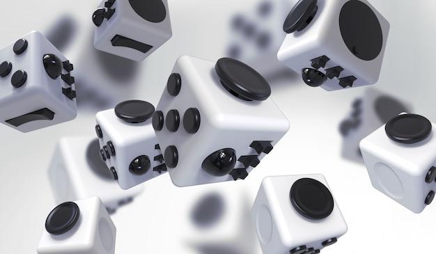 Fidget cubeシンプルストレス解消剤、fingers toy